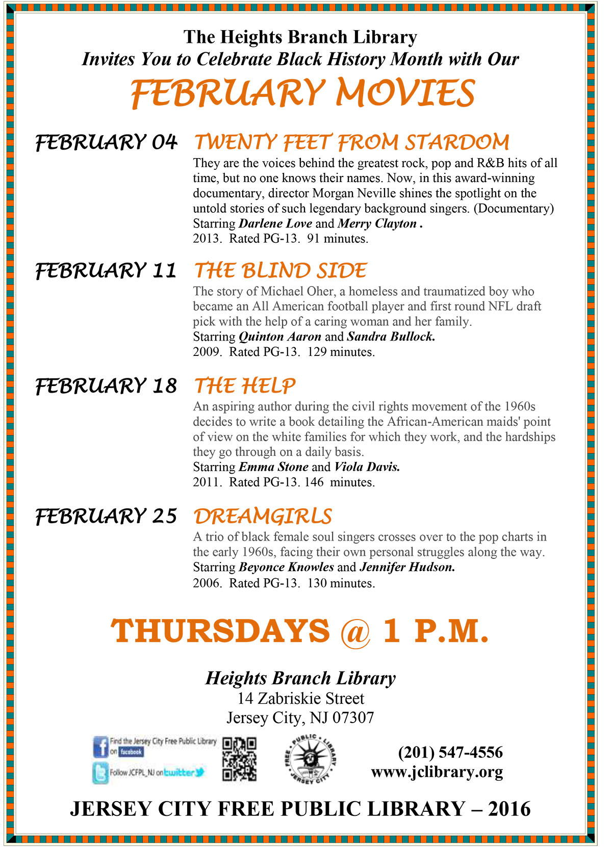 FEBRUARY MOVIES: DREAMGIRLS - The Office of Cultural Affairs