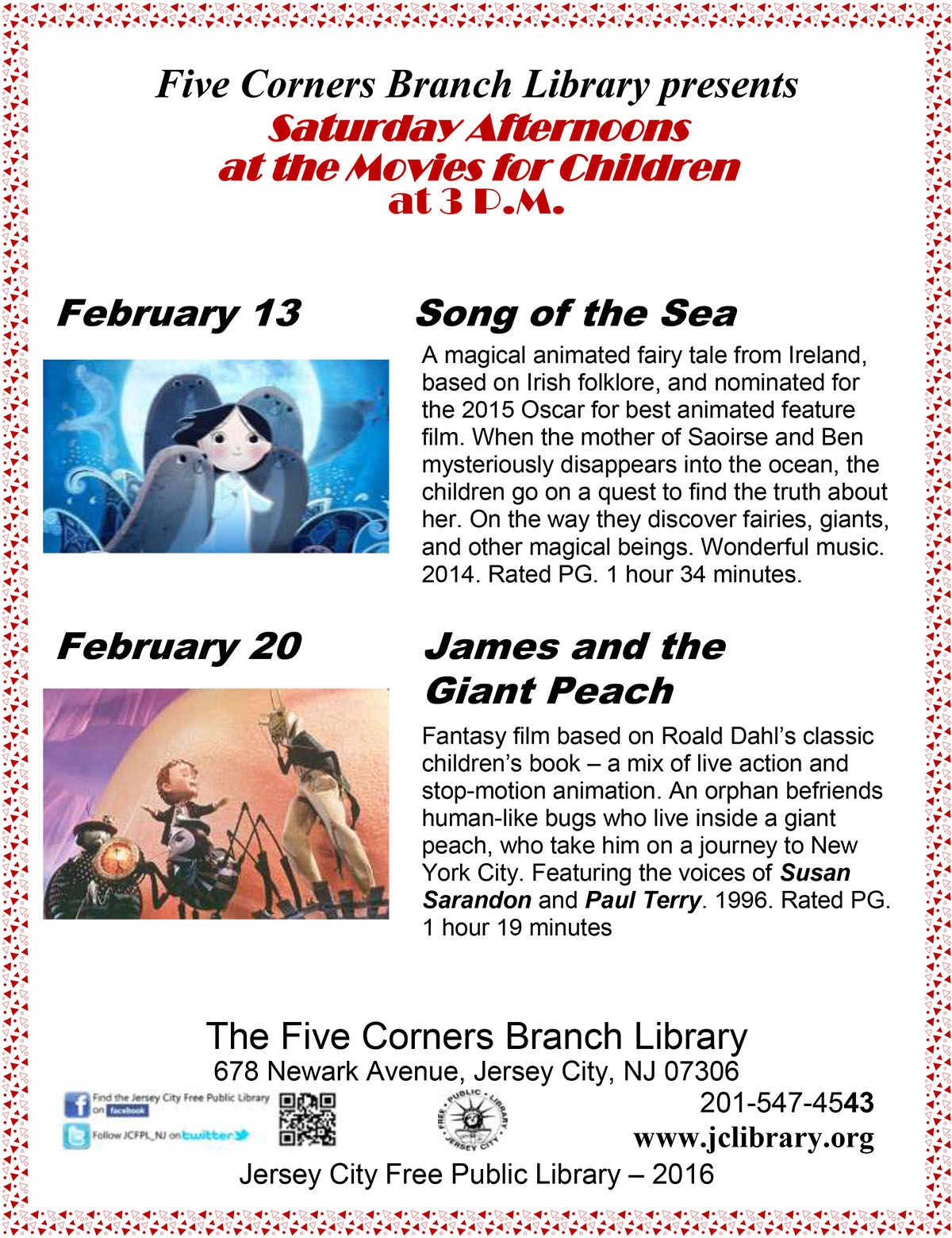 Saturday Afternoons at the Movies for Children: Song of the Sea