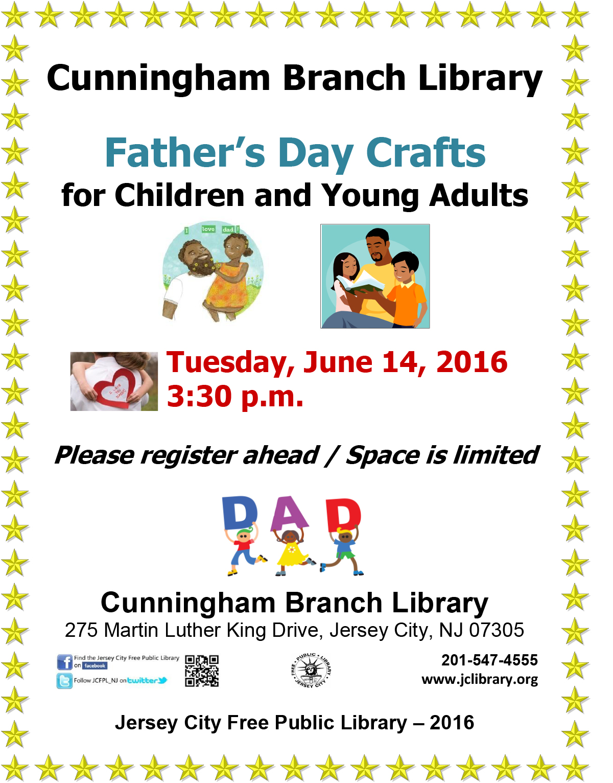 Cunningham Branch Library Father S Day Crafts For Children And