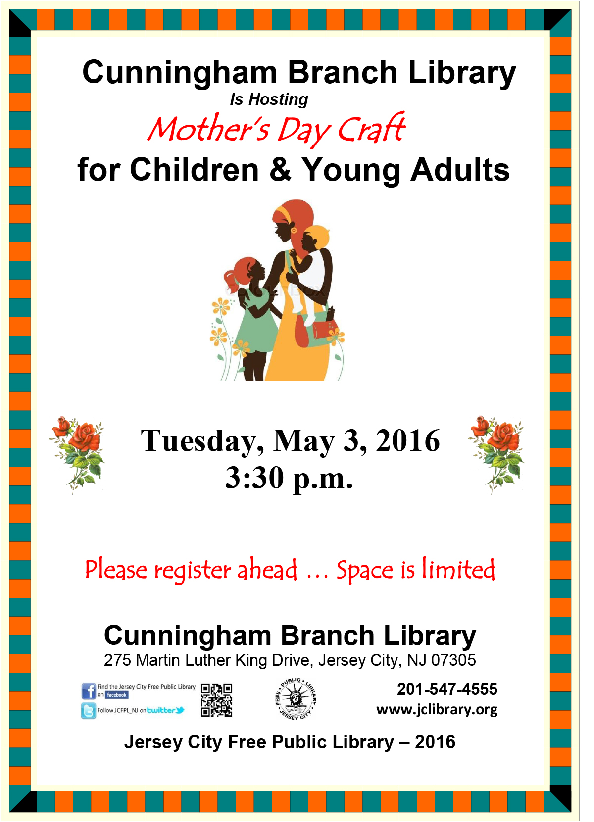 Cunningham Branch Library Mother S Day Craft For Children Young