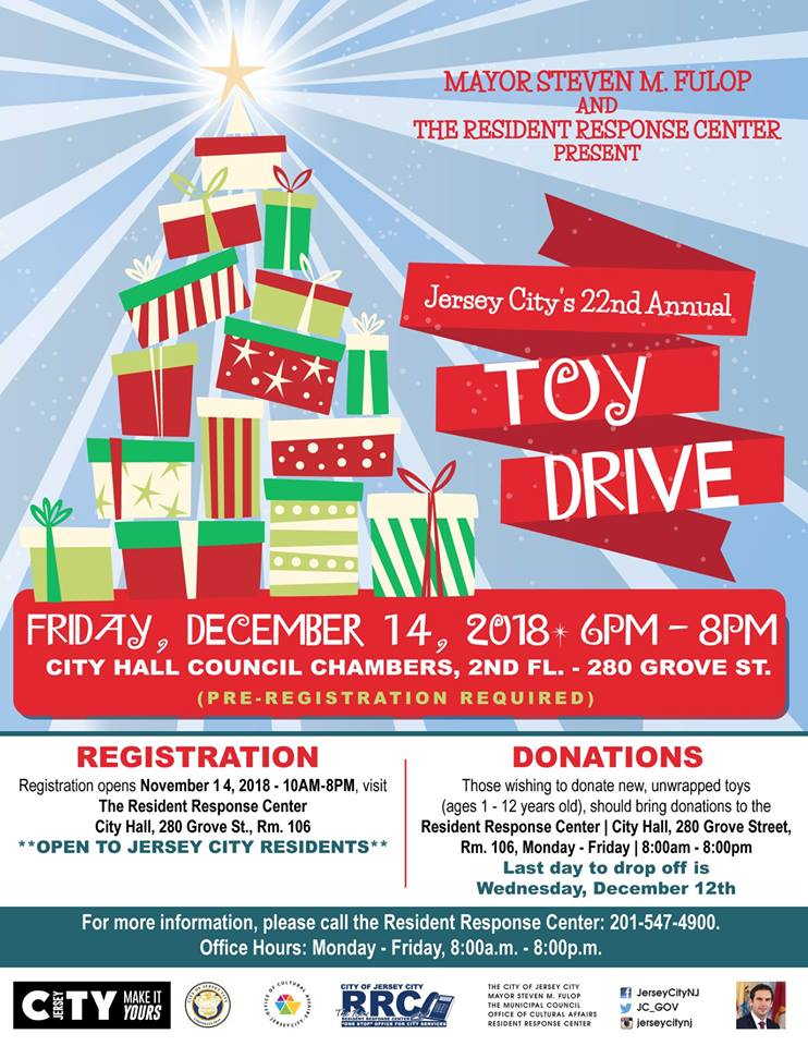 jersey city u0026 39 s 22nd annual toy drive
