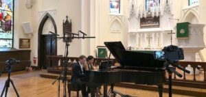 Beethoven at 250 with DUO Stephanie & Saar Man and a woman playing a classical piano