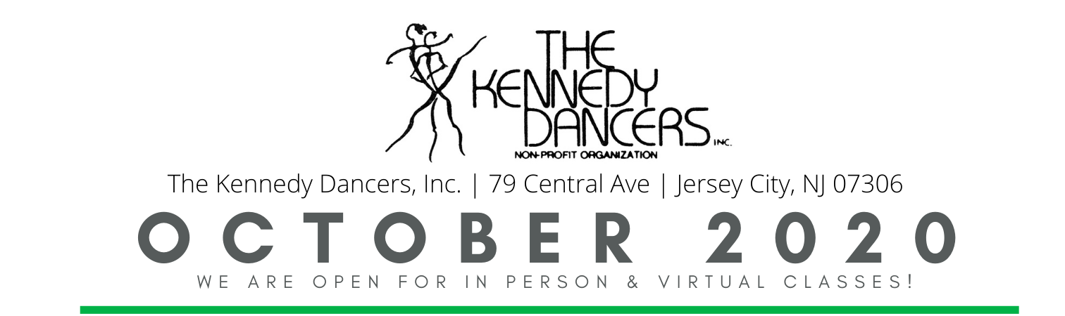 The Kennedy Dancers Logo and announcing October 2020 classes