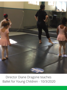 Kennedy Dancers Director Diane Dragone is pictured teaching Ballet to Young Children