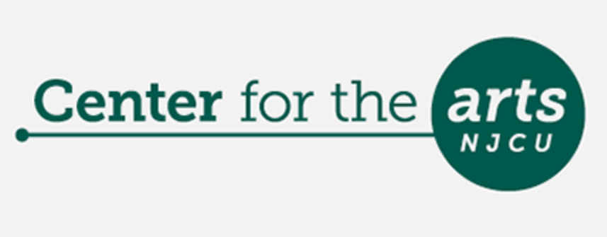 NJCU Center for the Arts Green and white Logo