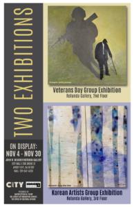 Rotunda Gallery November Exhibition Fly Featuring a Veteran Exhibit and Korean Art Exhibit