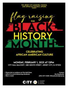 Black History Month Flag Raising Flyer