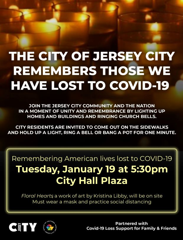 Covid Deaths Moment of Silence Flyer