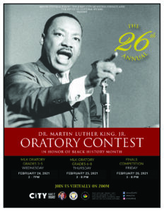 MLK 26 Annual Oratory Contest Flyer