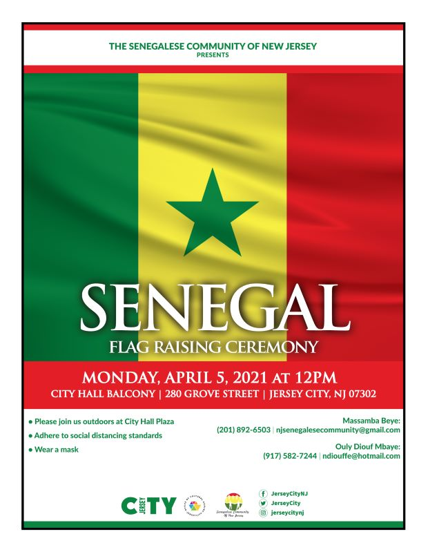 The Senegal flag is made up of three vertical stripes of green, yellow, and red with a green star in the center of the flag. The red stripe represents life, sacrifice, and the willingness of the people to fight against underdevelopment in Senegal. The yellow stripe represents wealth.