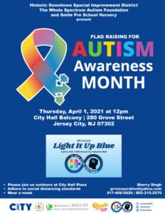 Autism Awareness Month Flag Raising