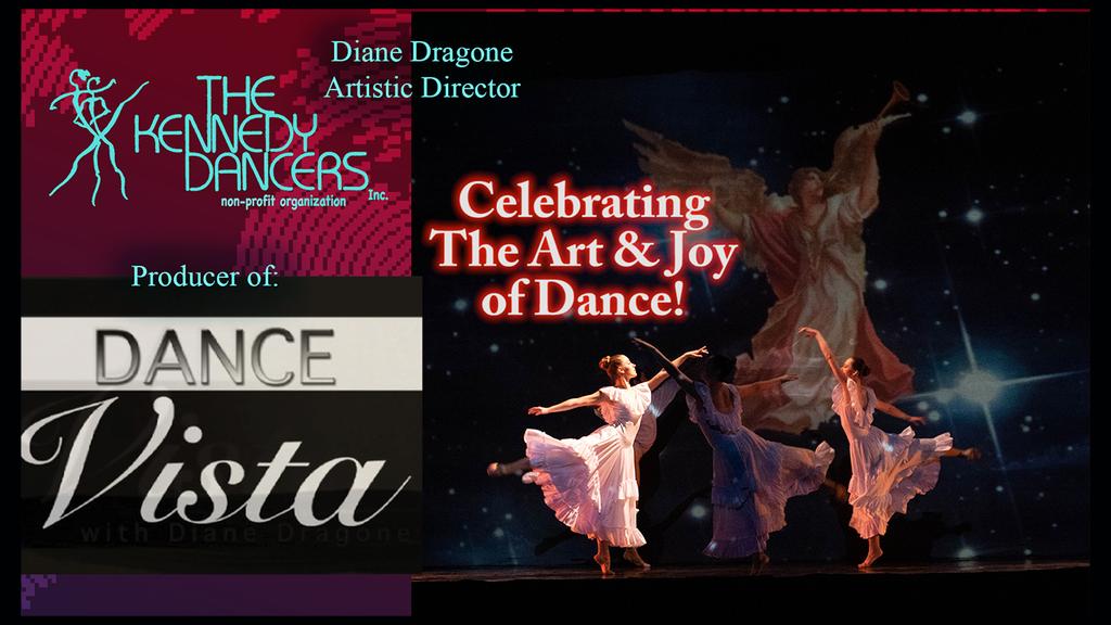 Dance Vista Flyer 2 oDancers pictured amidst wordage detailing event