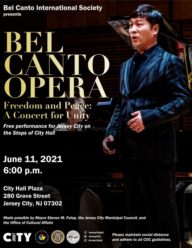 Bel Canto Flyer. Asian man pictured performing