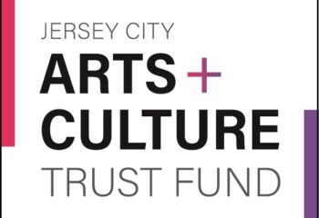 Arts & Culture Trust Fund logo White square with pink and purple accents
