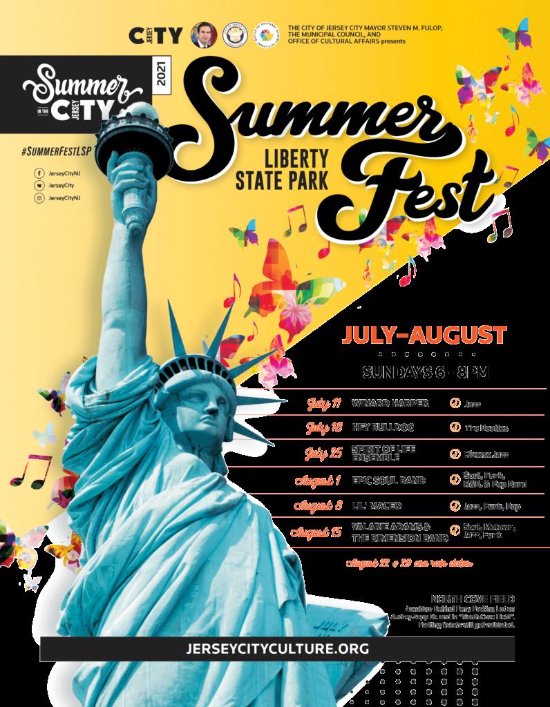 Summerfest LSP Sundays Band list flyer