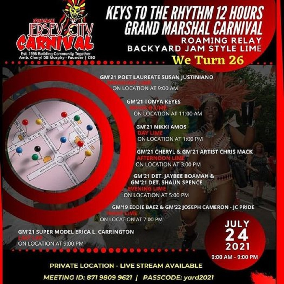 Carnival flyer detailing all July 24th events