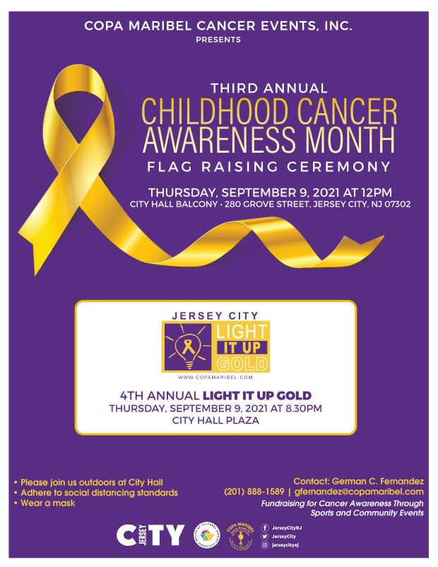 deep purple background with a gold ribbon in the right hand coThe international awareness symbol for Childhood Cancer is the gold ribbon. Unlike other cancer awareness ribbons, which focus on a singular type of cancer, the gold ribbon is a symbol for all forms of cancer affecting children and adolescents.rner. with a gold